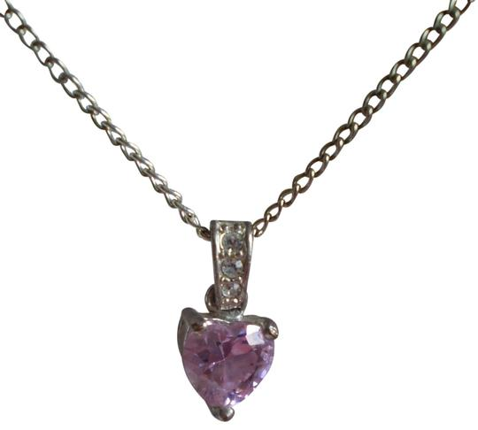 Preload https://item3.tradesy.com/images/pink-sapphire-heart-wcrystals-necklace-154962-0-1.jpg?width=440&height=440