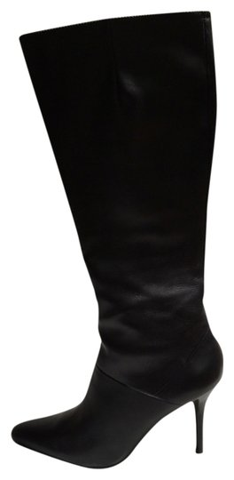 Nine West Leather Size 7.5 Knee High Leather Black Boots