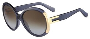 Chloé Ce634s 35 Grey Blue Brown Light Blue Shaded