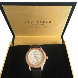 Ted Baker Ted Baker Crystallized RoseGold tone Leather Watch