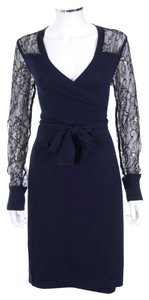 Diane von Furstenberg Dvf Edwardian Lace Work Wrap Dress