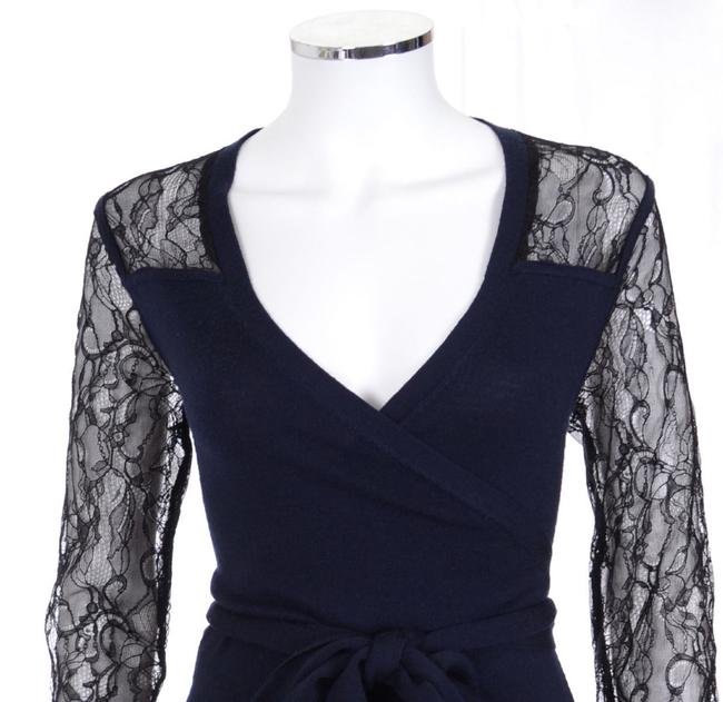 Diane von Furstenberg Dvf Edwardian Lace Work Wrap Dress Image 1