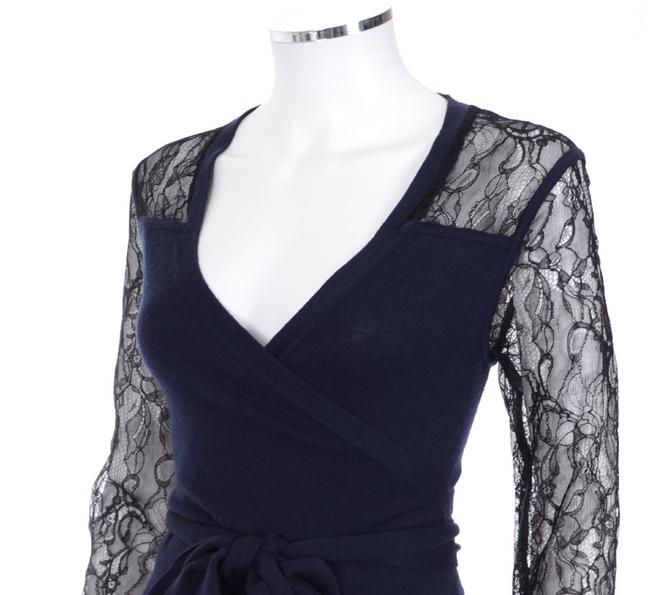 Diane von Furstenberg Dvf Edwardian Lace Work Wrap Dress Image 3