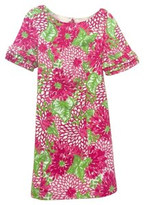 Lilly Pulitzer short dress Fuschia,pink,Green,White Vintage Rare Jubilee on Tradesy