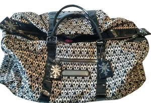 Thomas Wylde Goth Black And White Mcqueen Travel Bag
