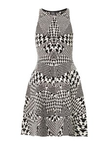 MCQ by Alexander McQueen short dress black and white houndstooth on Tradesy