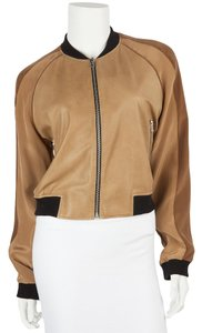 Faith Connexion Light Brown/Gold Leather Jacket