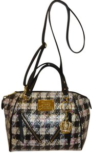 Juicy Couture New Patent Leather Satchel in Black and White