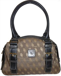 Brentano BB Moda Monogram Canvas Satchel in Brown