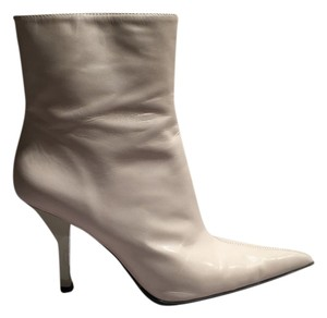 Nine West Boot Leather Beige Casual Ivory Boots