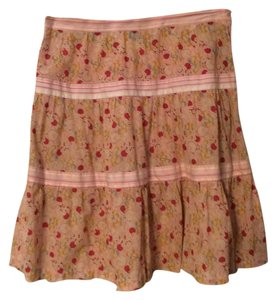 Marc Jacobs Three Tiers Fine Cotton Skirt Pastel print
