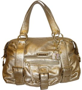 Michael Kors Refurbished Leather Satchel in Gold Metallic