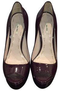 Miu Miu Purple Wedges