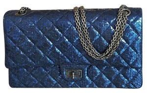 Chanel Python Metalic Shoulder Bag