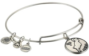Alex and Ani ARIES SILVER Charm Bangle
