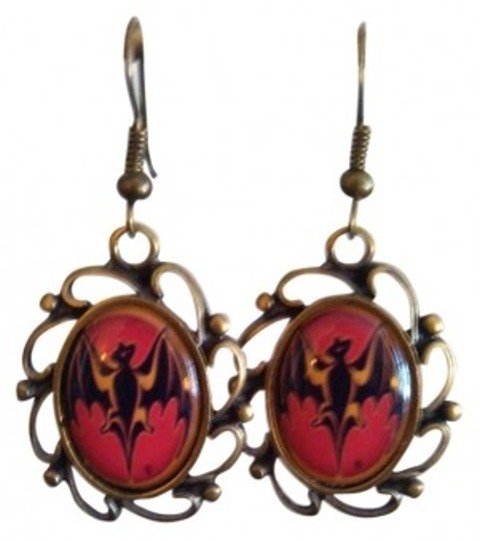 Preload https://img-static.tradesy.com/item/154987/red-black-gold-and-bats-gothic-earrings-0-0-540-540.jpg