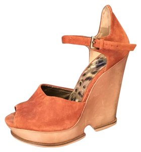 Sam Edelman Wedge Suede Sandal Camel Wedges