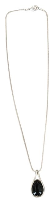 Silver and Black Necklace Silver and Black Necklace Image 1