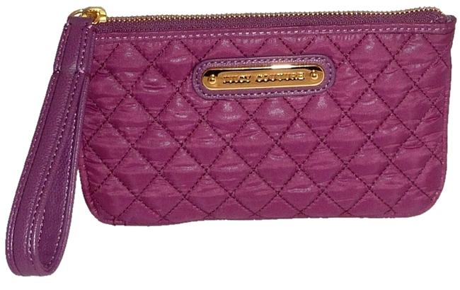 Item - New Quilted Wristlet Wallet Purple Nylon Clutch