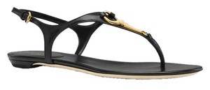 Gucci Adjustable Strap Black Sandals