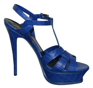 Saint Laurent Ysl Ysl Blue Sandals