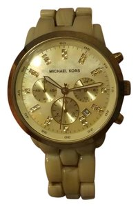 Michael Kors Gold and Ivory MK Watch