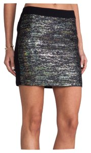 10 Crosby Derek Lam Club Dancing Date Night Edgy Stretchy Mini Skirt Black Blue Green Gold Silver Pink Purple