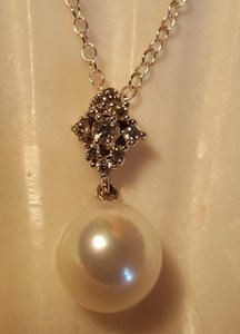 Bridal Fresh Water Pearl Necklace Sterling Silver