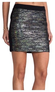 Derek Lam Mini Skirt Black Gold Blue Pink Green Purple