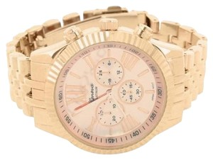 Other Rose Gold Wrist Watch Metal Band Case Round Face Unisex Gift Under Steel Back