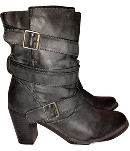 Madden Girl Distressed Grey Boots