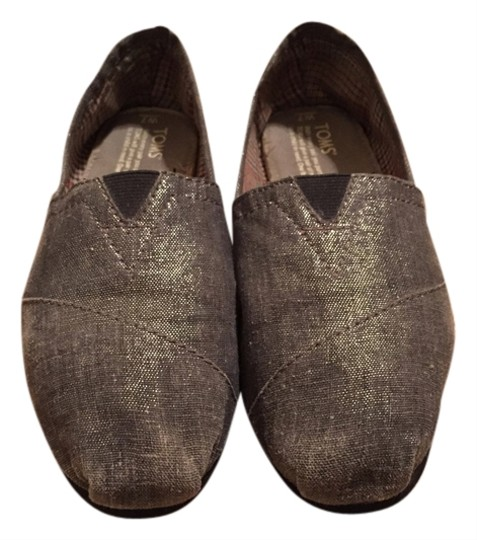 TOMS Silver Gray Gray/silver Flats