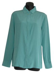 Maje Button Down Shirt turquoise