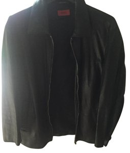 Hugo Boss black Leather Jacket