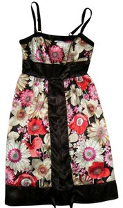 Fire Asian Floral Cute Mini Dress