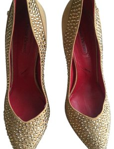 Cesare Paciotti Gold Pumps