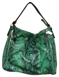 Furla Leather Python Zipper Hobo Bag