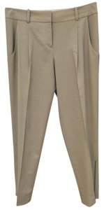 Ann Taylor Retail Zipper Detail Straight Pants Light Khaki