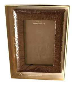 Graphic image Shagreen leather picture frame