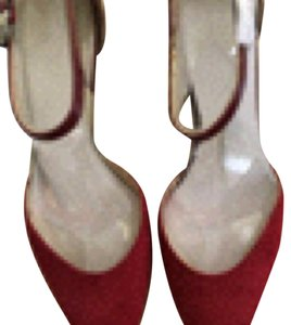 Franco Sarto Kitten Heel Strappy Nwt Wine/ rose red Pumps