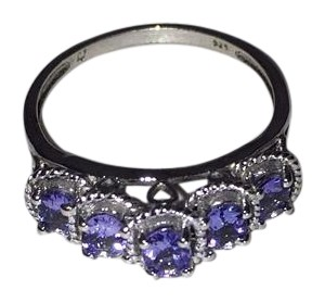 Other Sterling Silver and Tanzanite Ring