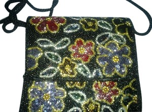 Carla Marchi Beaded Floral Exquisite Shoulder Bag