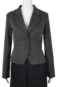 zinc Charcoal Grey with Smoke Pinstripes Blazer