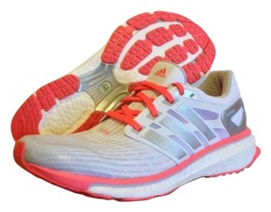 adidas Running Lightweight Atlethic White/Silver/Red Zest Athletic