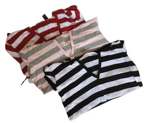 New York & Company T Shirt Stripe Red/White, Pink/Heather Grey, Black/White