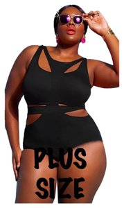 Other Plus Size Black One Pc Monokini Bathing Suit
