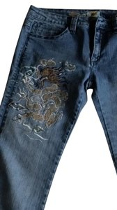 Antik Denim Vintage Embroidered Cool Flare Leg Jeans-Medium Wash
