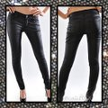 Other Coated Faux Leather 5 Pocket Junior Skinny Jeans Image 1