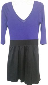 Express short dress Purple & Black on Tradesy