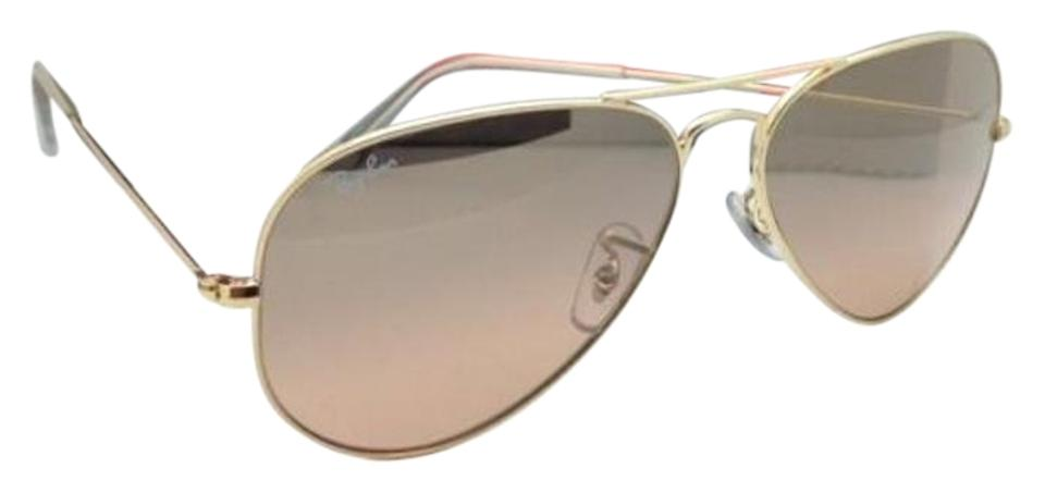 Ray-Ban Rb 3025 Large Metal 001/3e 58-14 Gold W/ Brown Pink Gradient ...